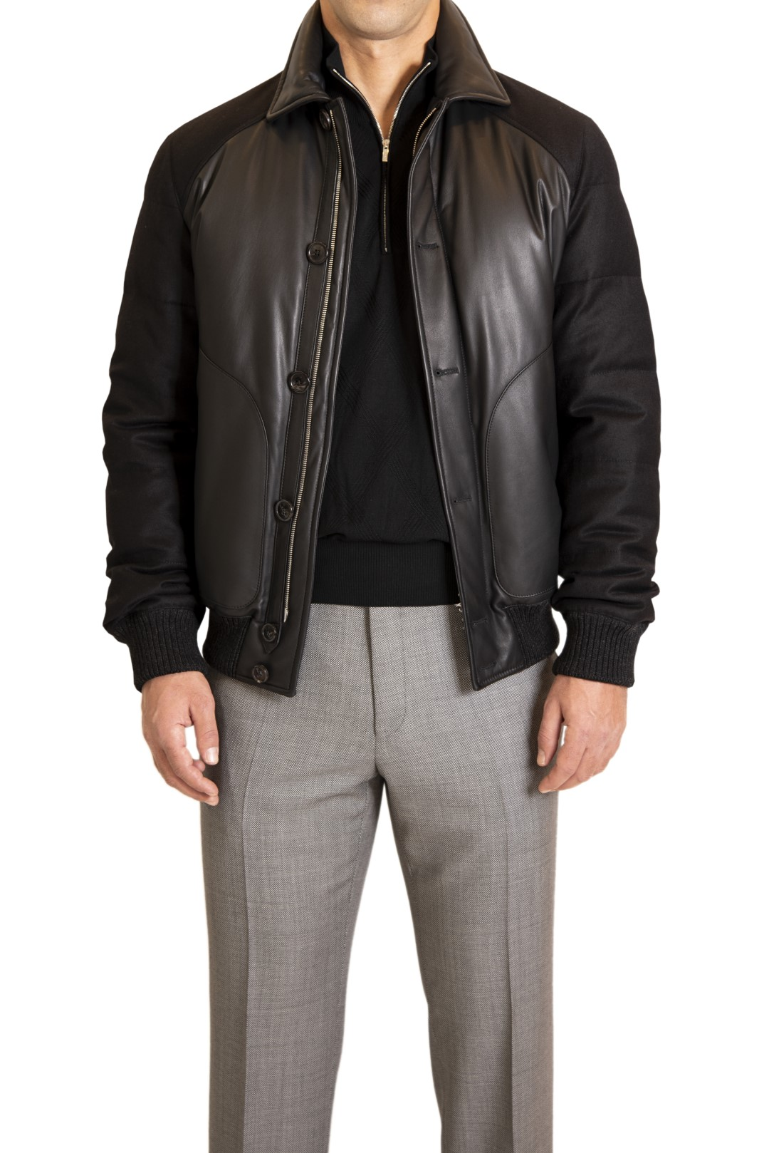 CORTIGIANI LEATHER JACKET