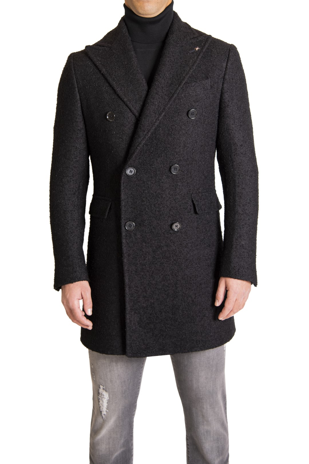 CORTIGIANI OVERCOAT, CC COLLECTION CORNELIANI TROUSER, CORTIGIANI PULLOVER